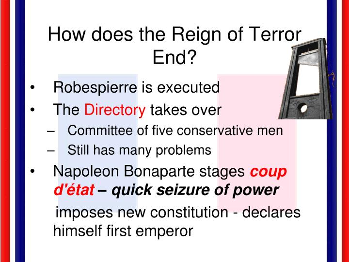 How does the Reign of Terror End?