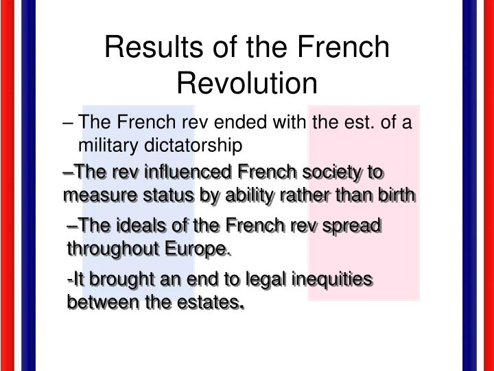 Results of the French Revolution