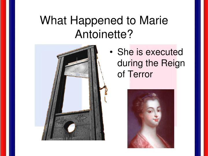 What Happened to Marie Antoinette?