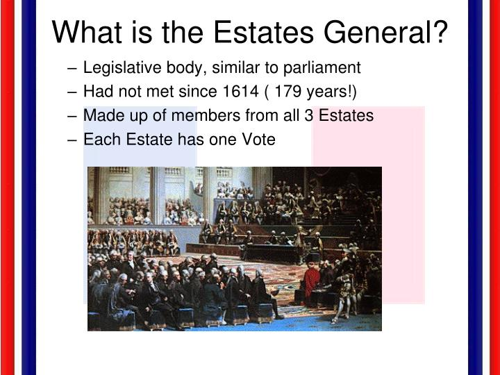 What is the Estates General?