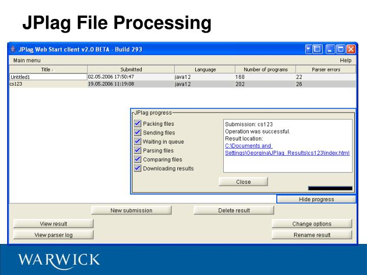 JPlag File Processing