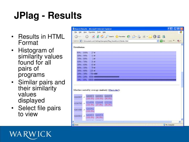 JPlag - Results