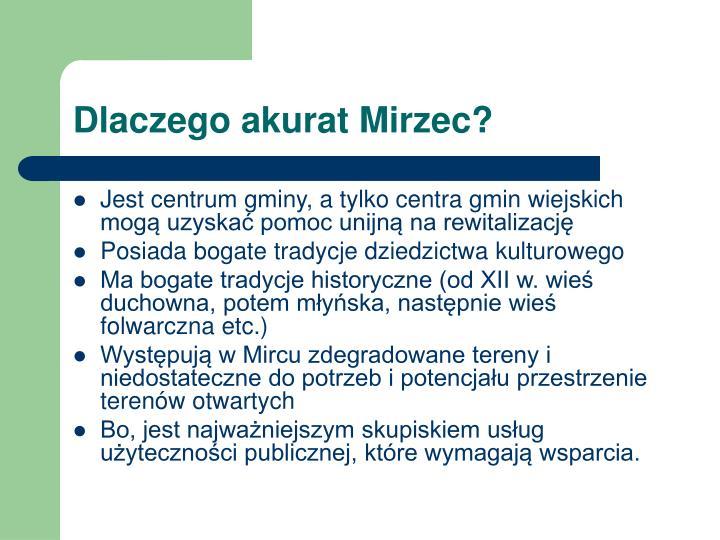 Dlaczego akurat Mirzec?