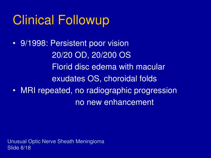 Clinical Followup