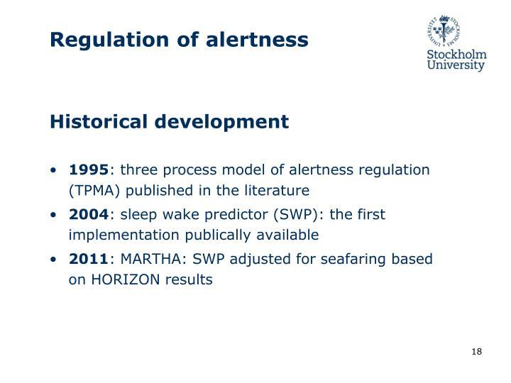 Regulation of alertness