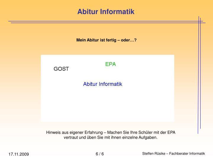 Abitur Informatik