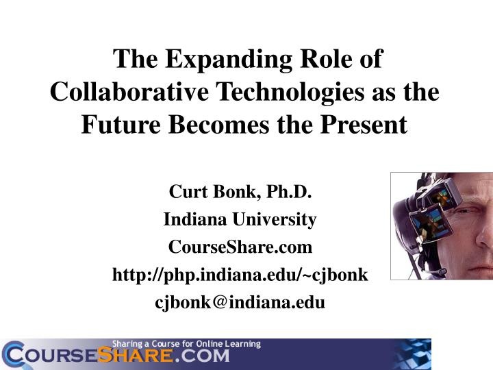 the expanding role of collaborative technologies as the future becomes the present n.