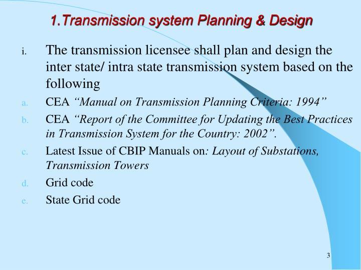 1 transmission system planning design