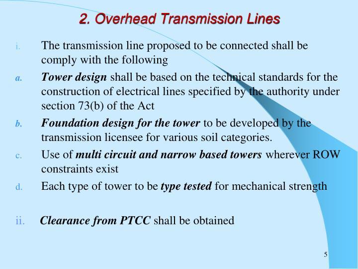 2. Overhead Transmission Lines