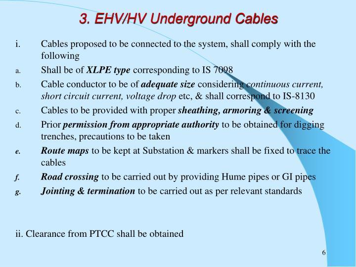 3. EHV/HV Underground Cables