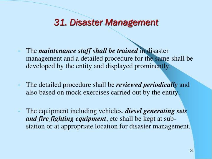 31. Disaster Management