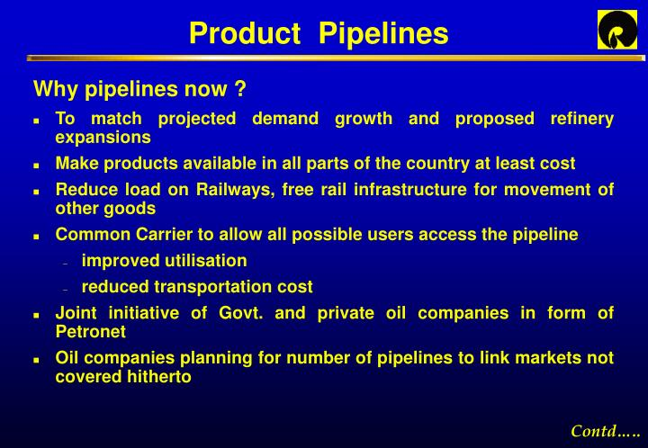 Product  Pipelines