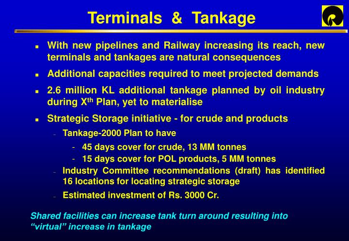 Terminals  &  Tankage