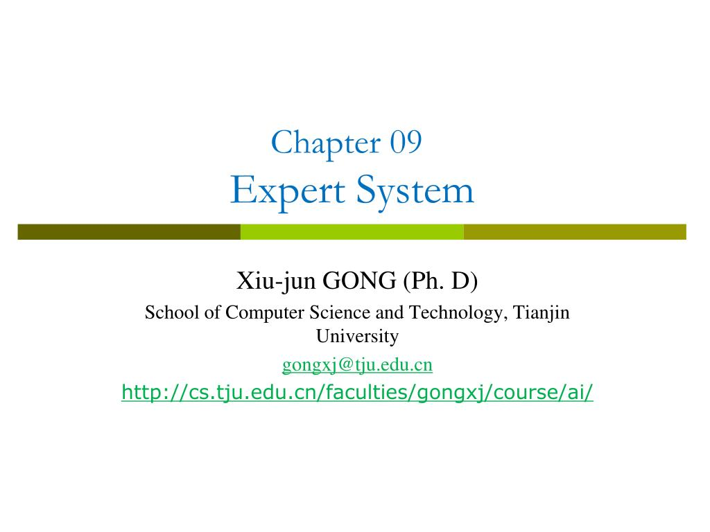 PPT - Chapter 09 Expert System PowerPoint Presentation - ID