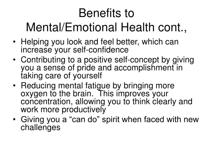Benefits to