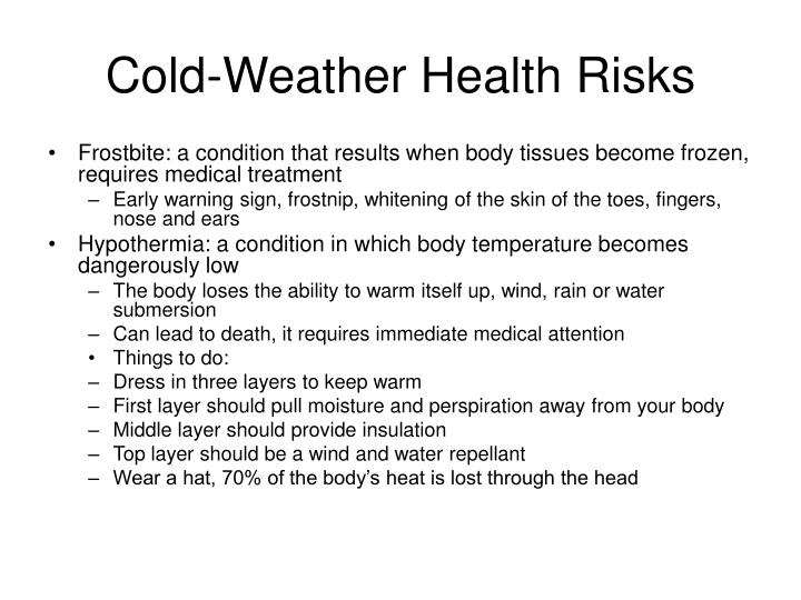 Cold-Weather Health Risks
