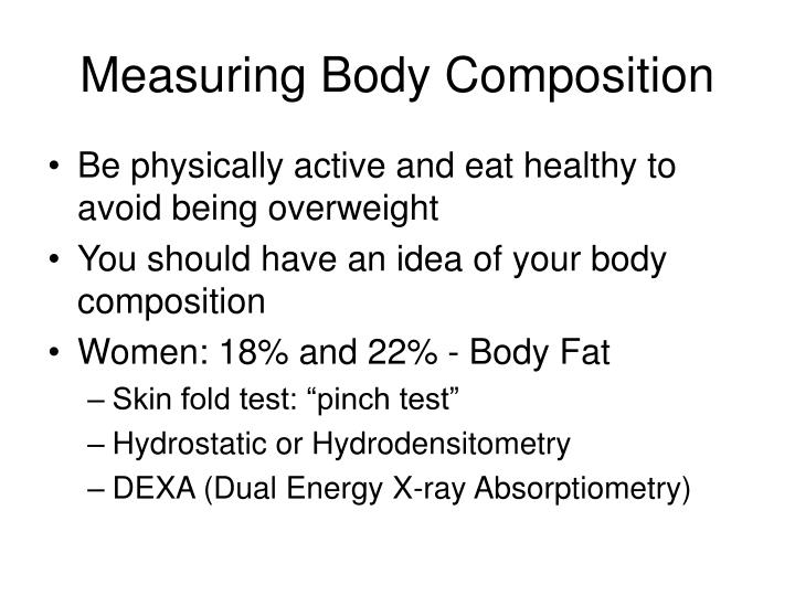 Measuring Body Composition
