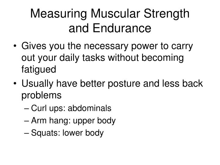 Measuring Muscular Strength