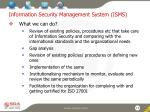 information security management system isms1