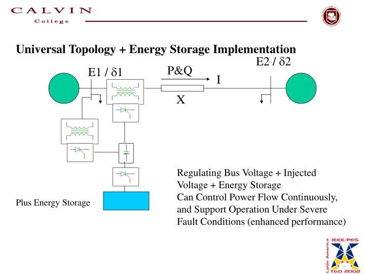 Universal Topology + Energy Storage Implementation