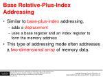 base relative plus index addressing