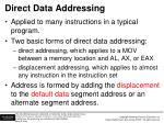 direct data addressing