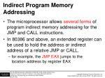 indirect program memory addressing
