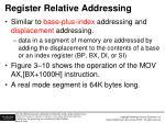 register relative addressing