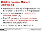 relative program memory addressing