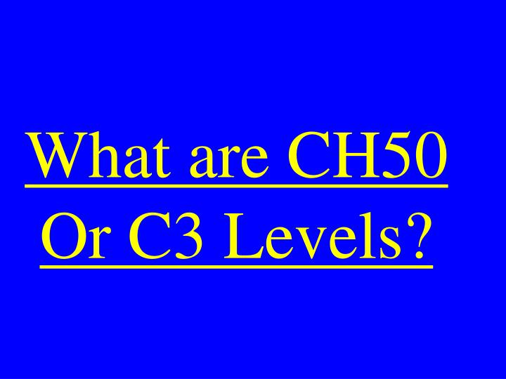 What are CH50