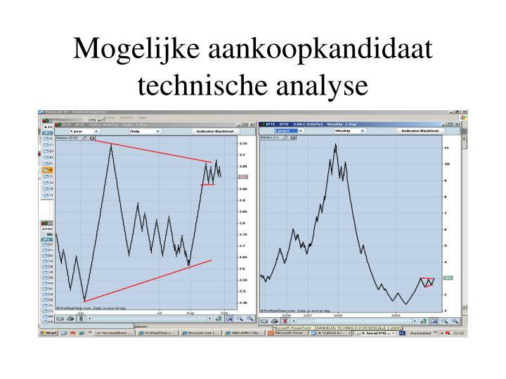 Mogelijke aankoopkandidaat technische analyse