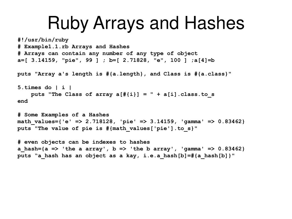 Ruby puts array