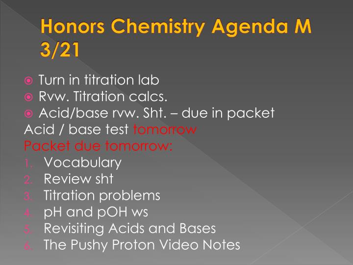 chemistry honors titration lab essay Chemistry lab report outline - top-quality academic writing and editing website - get online writing assignments for an affordable price the leading academic writing and editing company - we help students to get online essays, research papers, reviews and proposals plagiarism free quality.