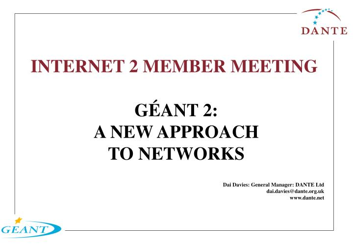 Internet 2 member meeting