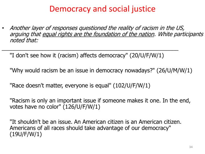 Democracy and social justice