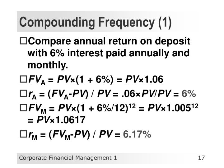 Compounding Frequency (1)
