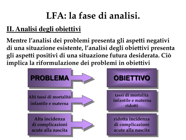 LFA: la fase di analisi.