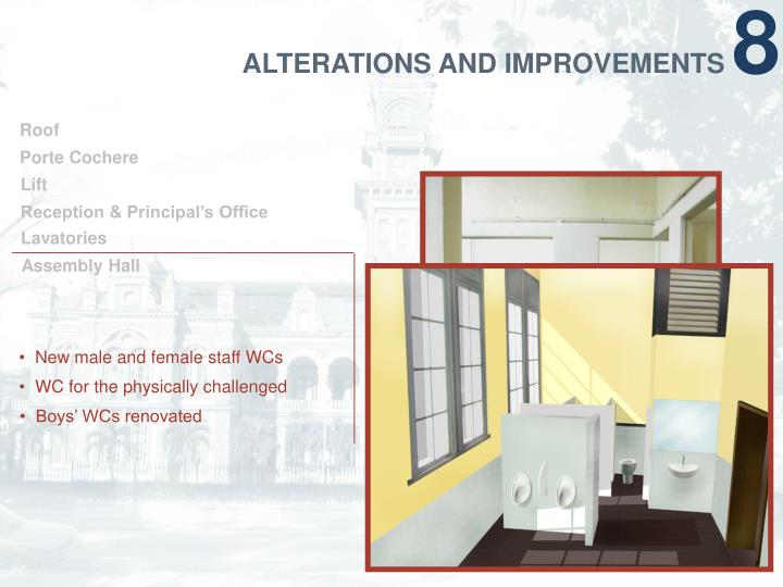 ALTERATIONS AND IMPROVEMENTS