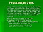procedures cont1