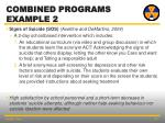 combined programs example 2