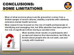 conclusions some limitations