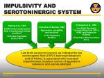 impulsivity and serotoninergic system