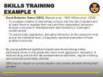 skills training example 1