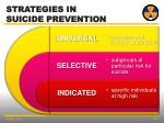 strategies in suicide prevention1
