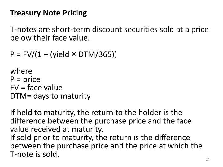 Treasury Note Pricing