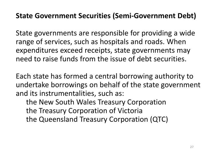 State Government Securities (Semi-Government Debt)