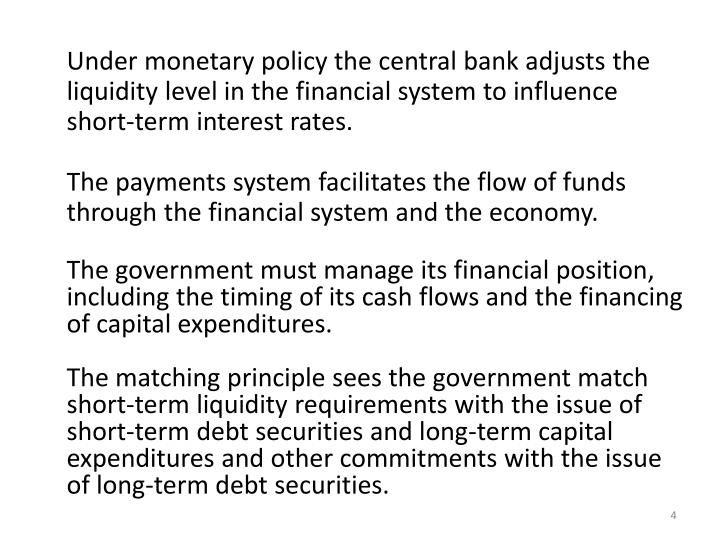 Under monetary policy the central bank adjusts the