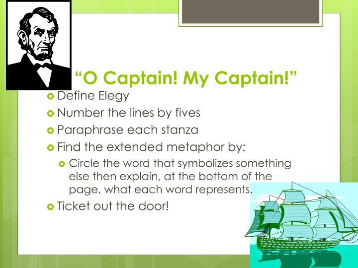 metaphors in o captain my captain