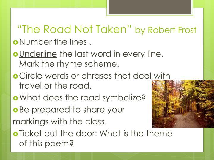 the road not taken theme analysis