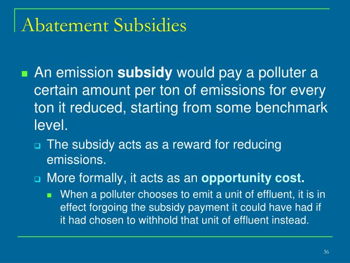 Abatement Subsidies